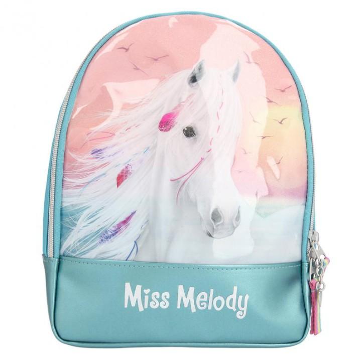 Depesche 11438 Miss Melody - Rucksack mit traumhaftem Pferde-Motiv, ca. 28 x 22 x 9,5 cm groß, mit geräumigem Hauptfach und Innentasche, Träger längenverstellbar11438 Rucksack Mädchen Kinderrucksack Kindergartenrucksack Pferdemotiv