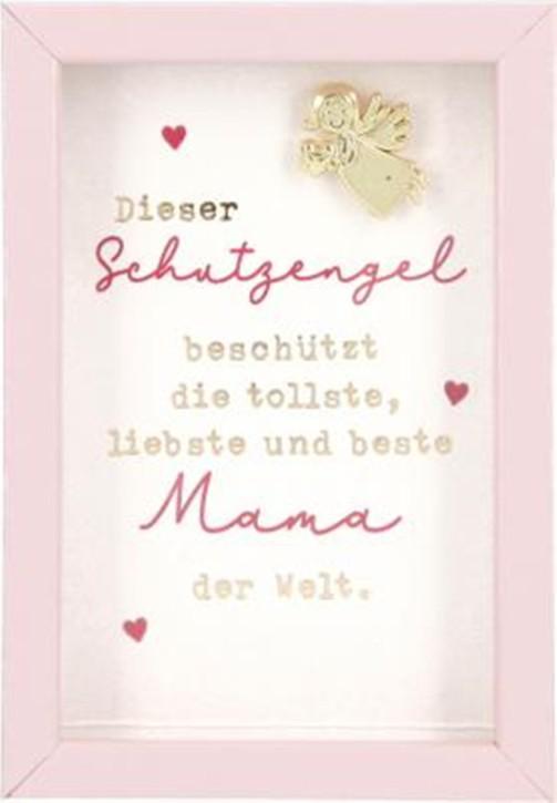 Spruch u.Kompliment im Bilderrahmen Fotorahmen klein 8,4cm-...liebste und beste Mama...