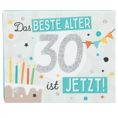 WUNSCHERFÜLLER Soundboxen Zahlengeburtstage 1 Stück - Das Beste Alter 30- ist Jetzt! - zum 30. Geburtstag