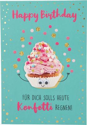 Depesche Klappkarten Bitte Laecheln - Happy Birthday Für dich solls heute ...