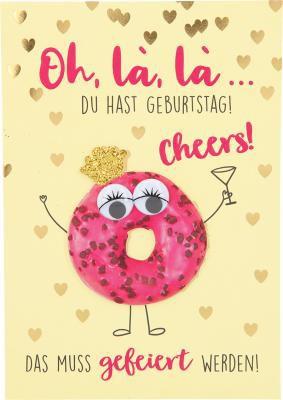 Depesche Klappkarten Bitte Laecheln - Oh, là, là, ... du hast Geburtstag!...