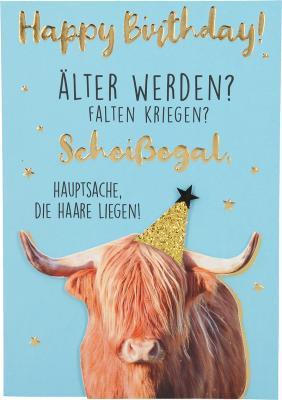 Depesche Klappkarten Bitte Laecheln - Happy Birthday! Älter werden? Falten...