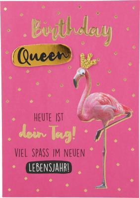 Depesche Klappkarten Bitte Laecheln - Birthday Queen Heute ist dein Tag!...