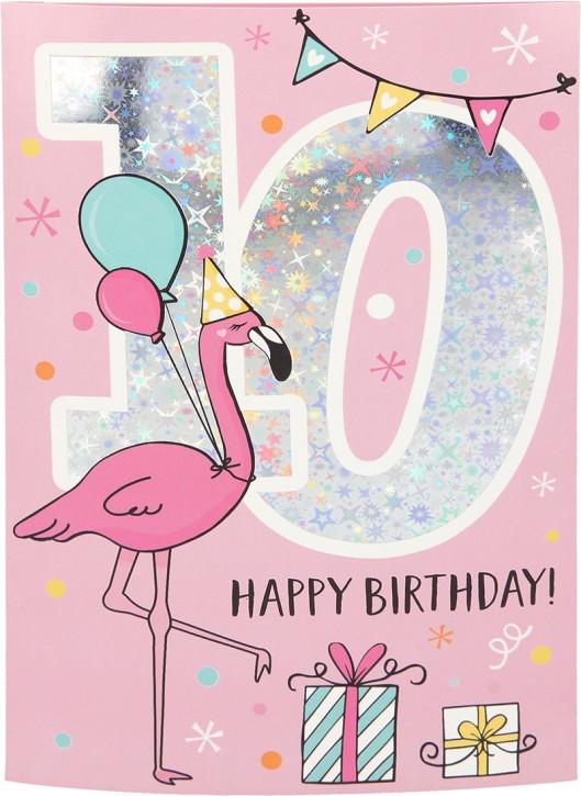 Geburtstagsteelicht in kleiner Box Happy Birthday 50