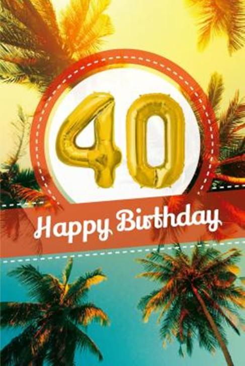 Depesche Zahlengeburtstagskarte mit Ballons 022 zum 40. Geburtstag  Zahlen-Geburtstagskarten mit zwei Folienballons