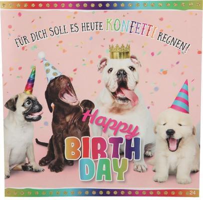 Geburtstagskarte mit Musik 3868-024 Für dich soll es heute Konfetti regnen..