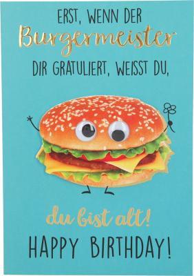 Depesche Klappkarten Bitte Laecheln - Erst wenn der Burgermeister dir...