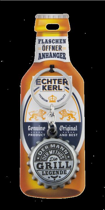 Echter Kerl Flaschenöffner Anhänger - Grillmeister