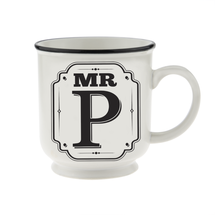 H&H Becher Mr  P - für Hochzeit, Jubiläum und Jahrestag
