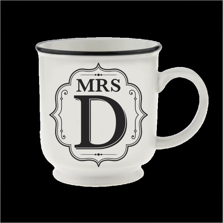 H&H Becher Mrs D - für Hochzeit, Jubiläum und Jahrestag
