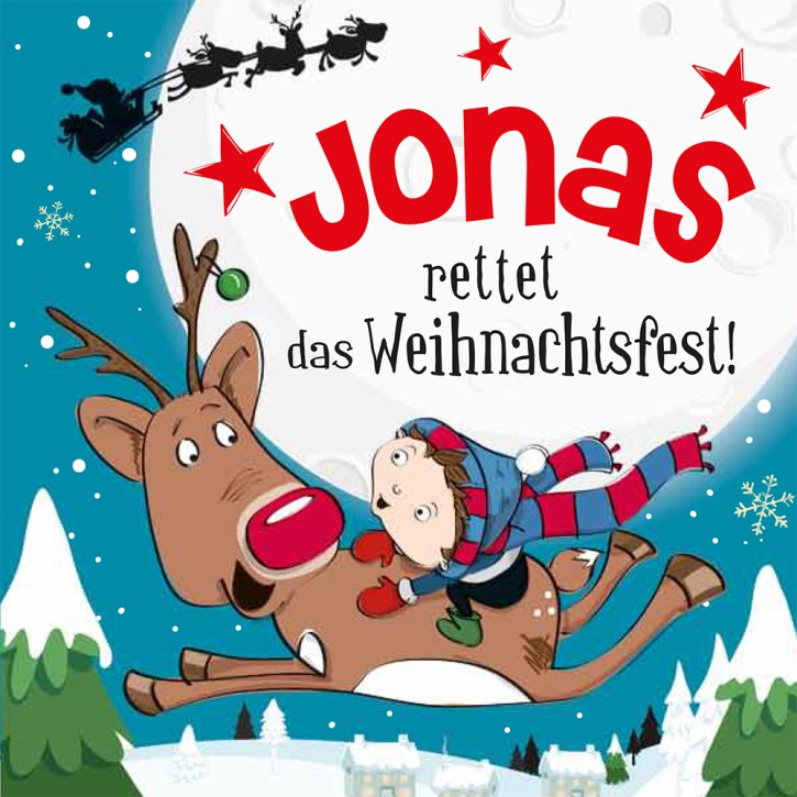 Namens-Weihnachtsbuch - Deine persönliche Weihnachtsgeschichte mit Namen Jonas