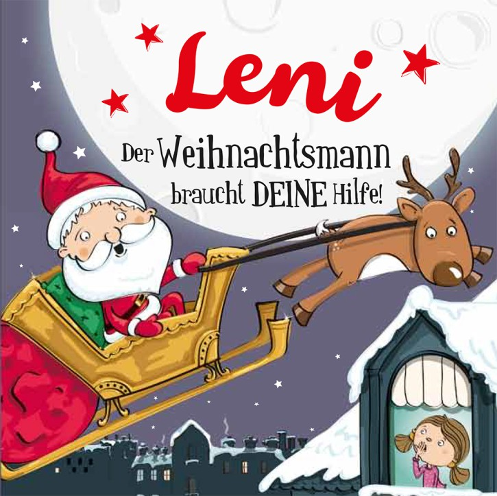 Namens-Weihnachtsbuch - Deine persönliche Weihnachtsgeschichte mit Namen Leni
