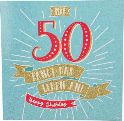 Geburtstagskarte mit Musik 3868-035 - 50 Jahre? Da kann man nur staunen,...