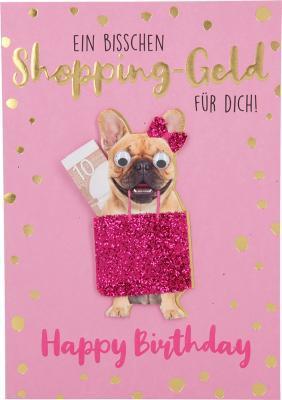 Depesche Klappkarten Bitte Laecheln - Ein bisschen Shopping-Geld für dich!