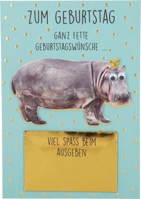 Depesche Klappkarten Bitte Laecheln - Zum Geburtstag ganz fette Geburtstags...