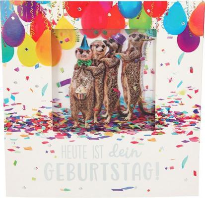 Geburtstagskarte Klappkarte 3D mit Musik & Licht Heute ist dein Geburtstag!