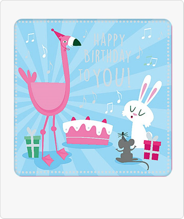 Musikschachtel 5580-041b Geschenkverpackung Happy Birthday to you!