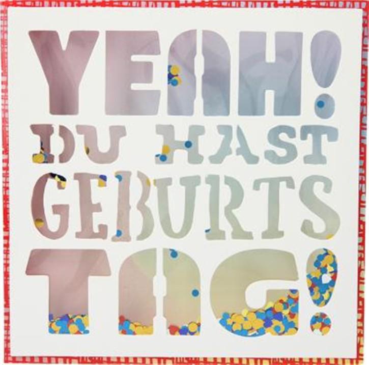 Konfetticards Klappkarten mit Konfetti 046 Yeah! Du hast Geburtstag!