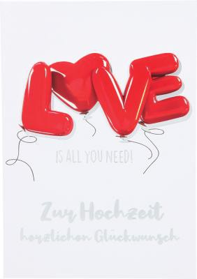 Depesche Klappkarten Bitte Laecheln - Love is all you need! Zur Hochzeit...
