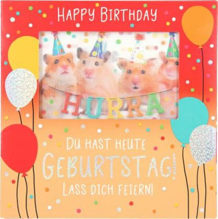 Karte Klappkarte 3D mit Musik & Licht Zur Geburt Ein Baby ist ein Geschenk des