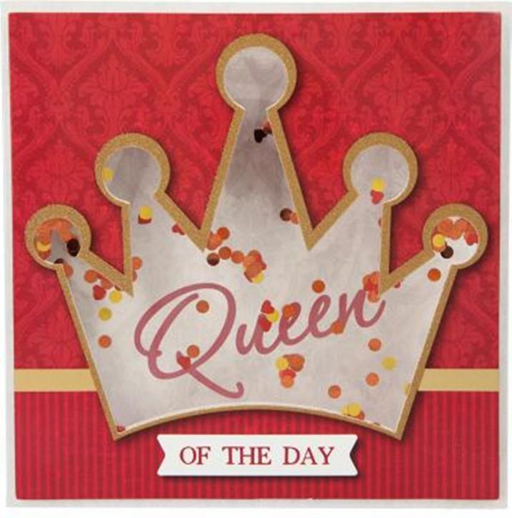 Konfetticards Klappkarten mit Konfetti 053 Queen of the day