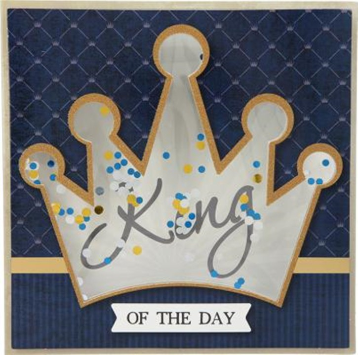 Konfetticards Klappkarten mit Konfetti 054 King of the day