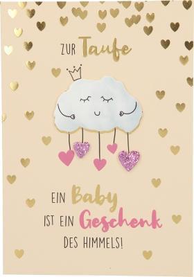 Depesche Klappkarten Bitte Laecheln - Zur Taufe Ein Baby ist ein Geschenk ...