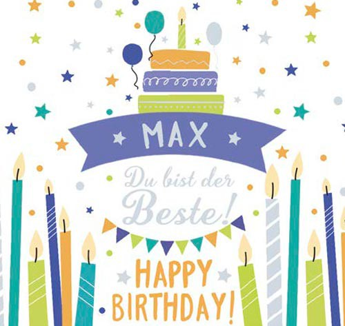 Geburtstagskerze mit Namen Max