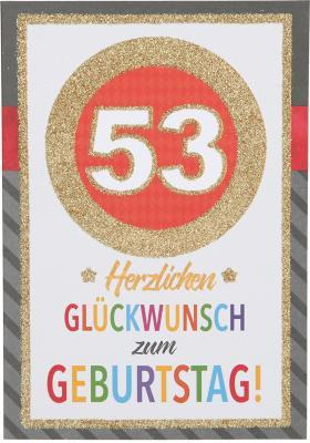 Originelle Klappkarte mit Zahlen Geburtstagskarte zum 4. Geburtstag Zahlenmotiv zum 53. Geburtstag
