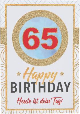 Originelle Klappkarte mit Zahlen Geburtstagskarte zum 65. Geburtstag
