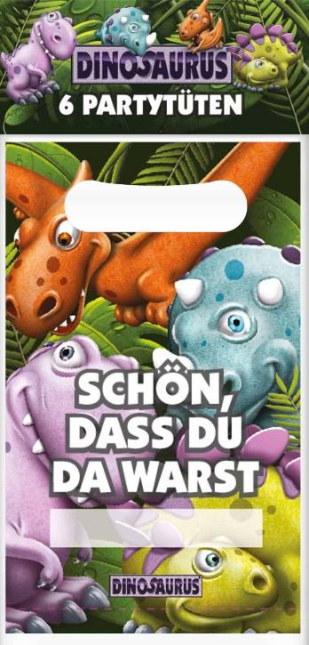 Kinder Dino Partytüten Geschenktüten als Set 6 Stck