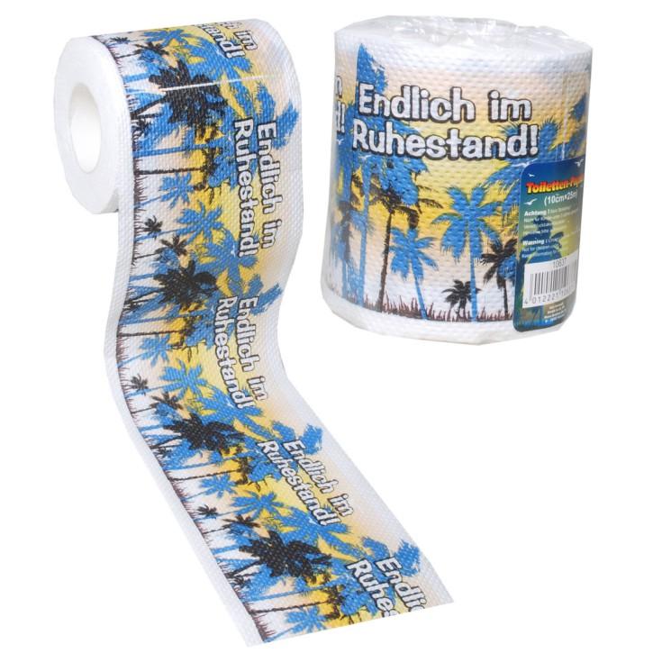 Udo Schmidt GmbH & Co witziges Toilettenpapier Ruhestand Klopapier Scherzartikel Geburtstags Geschenk Ruhestand Renteneintritt
