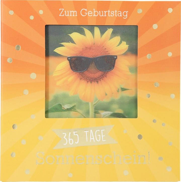 Geburtstagskarte Klappkarte 3D mit Musik & Licht Zum Geburtstag 365 Tage Sonnenschein