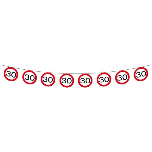 """Schilder-Girlande """"30"""" Wimpelkette zum 30. Geburtstag"""