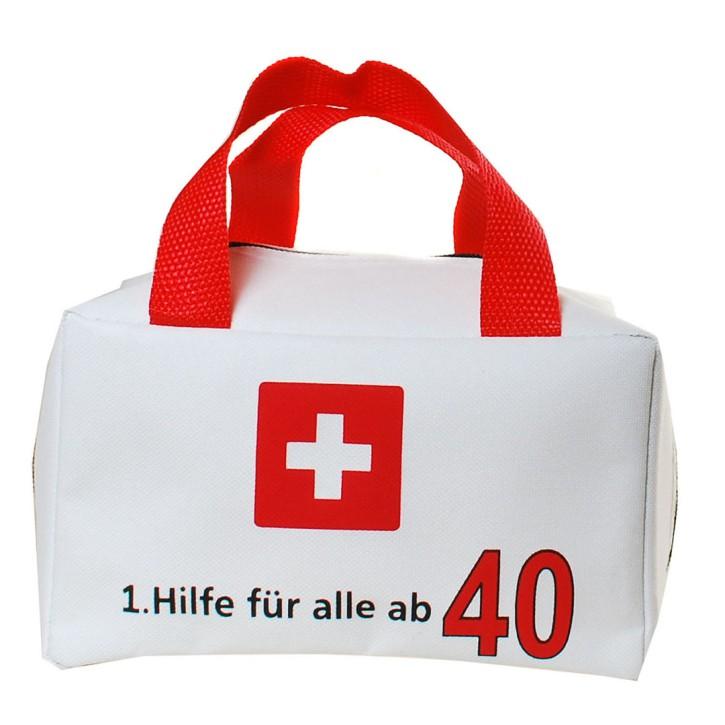 """Tasche """"1. Hilfe für alle ab 40"""" ungefüllt"""