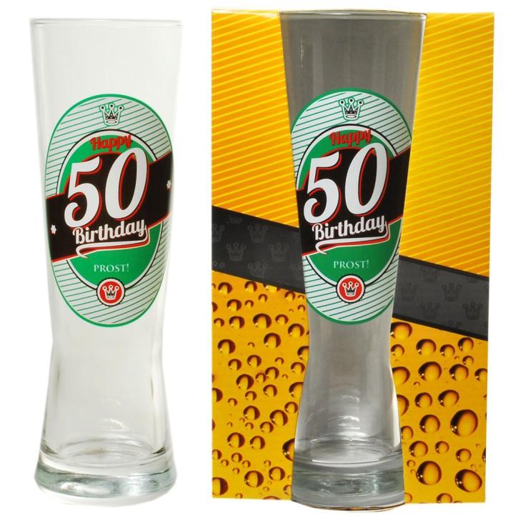 "Bierglas zum Geburtstag ""50 Happy Birthday"""