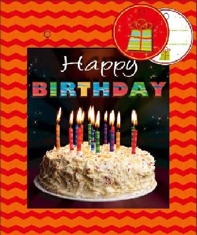 3D Kleine Geschenktüte 6 x 12,5 x 15cm Happy Birthday 001