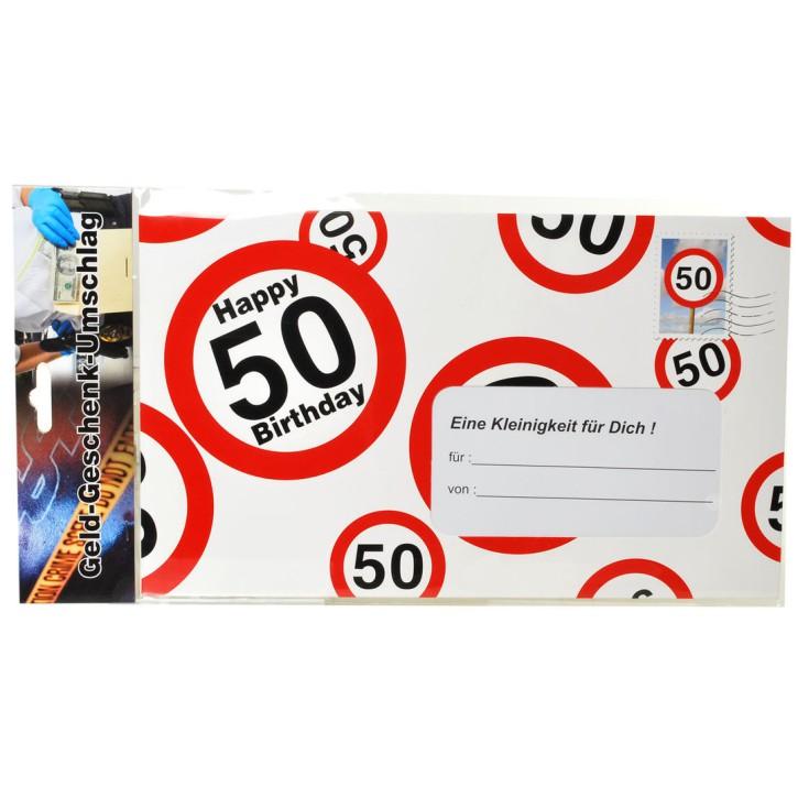 Riesen-Umschlag zum 50. Geburtstag Verpackung Geldgeschenke