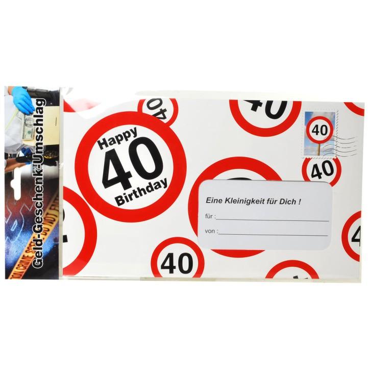Riesen-Umschlag zum 40. Geburtstag Verpackung Geldgeschenke