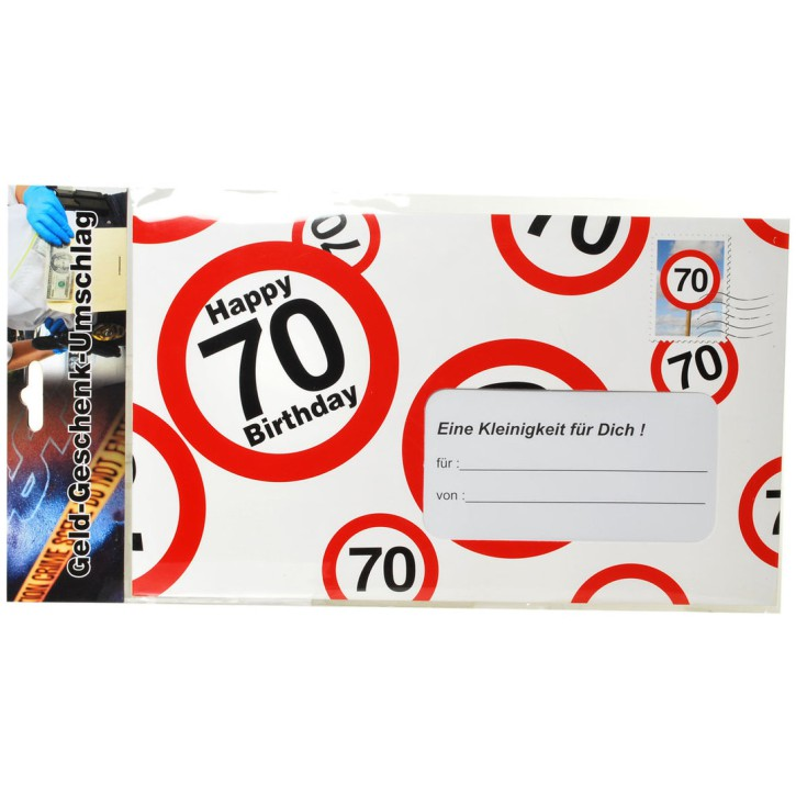 Riesen-Umschlag zum 70. Geburtstag Verpackung Geldgeschenke