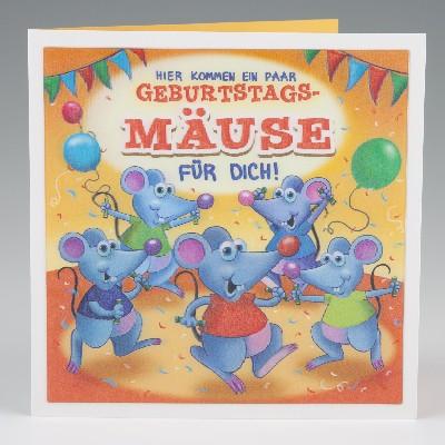 Depesche 3D Klappkarte 017 zum Geburtstag Geburtstagsmuse