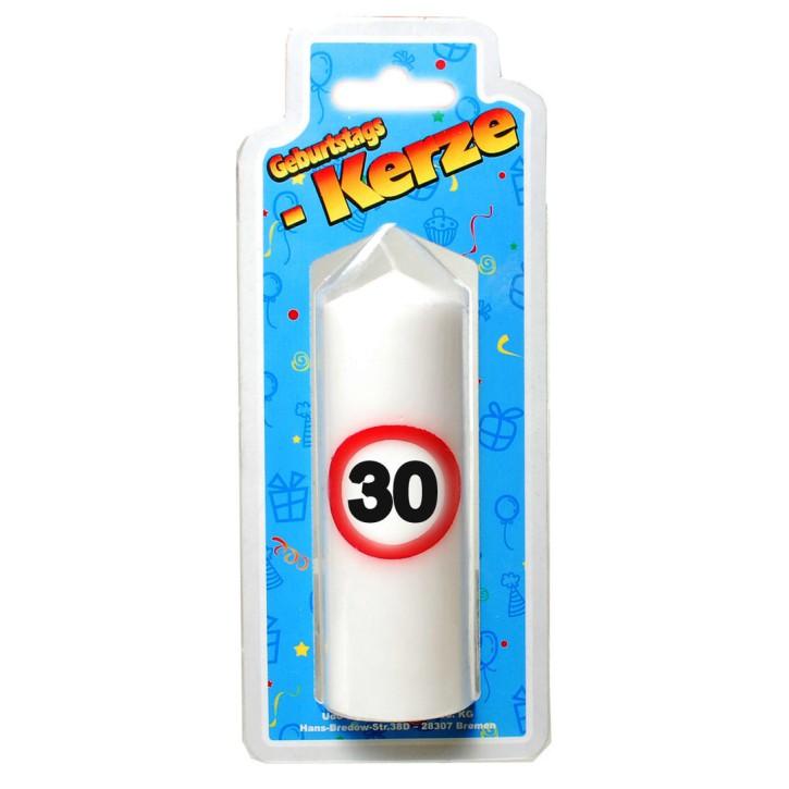 Geburtstags Kerze zum 30. Geburtstag 135g (Grundpreis 1kg: 73,70  EUR)