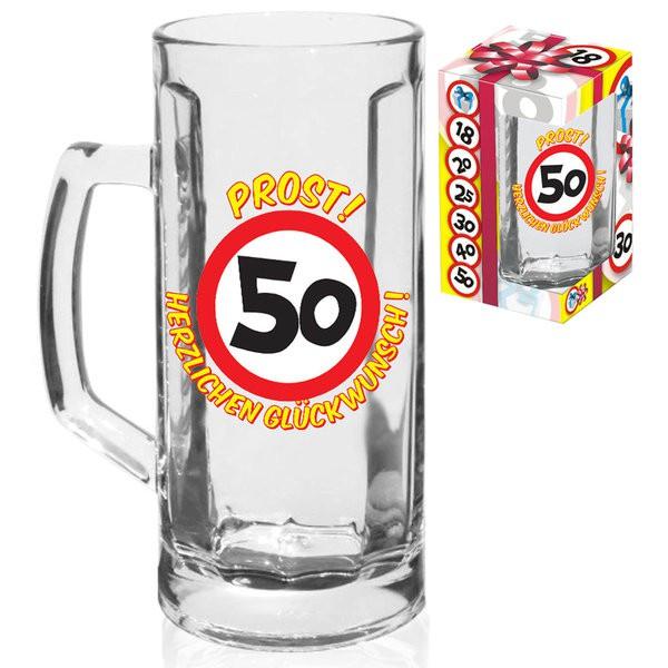 Bierhumpen 50 Bierglas zum 50. Geburtstag