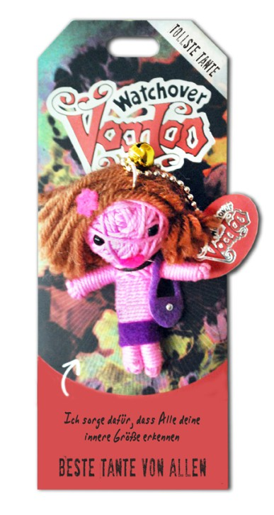 Watchover Voodoo Sammel Puppe mit Spruch Beste Tante