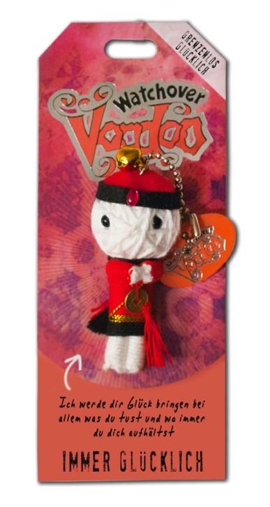 Watchover Voodoo Sammel Puppe mit Spruch Immer glücklich