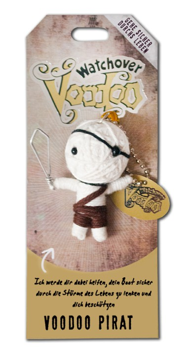 Watchover Voodoo Sammel Puppe mit Spruch Voodoo Pirat