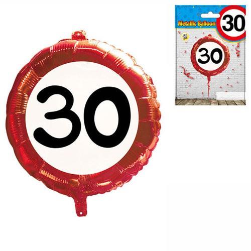 Udo Schmidt Folien-Ballon 30.Geburtstag Kunstsoff 45 cm Partydekoration Geburtstag Luftballon Tischdeko