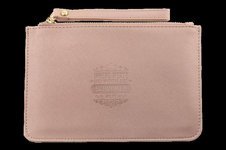 Persoenliche Clutchtasche/Kosmetiktasche Innere Werte… Handtasche Damen