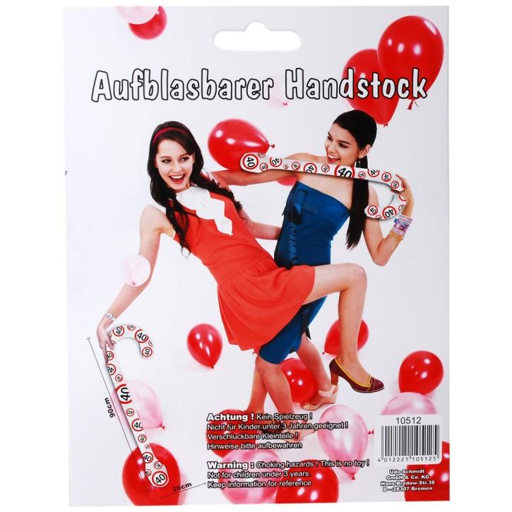 Aufblasbarer Handstock Motiv 40 zum 40. Geburtstag
