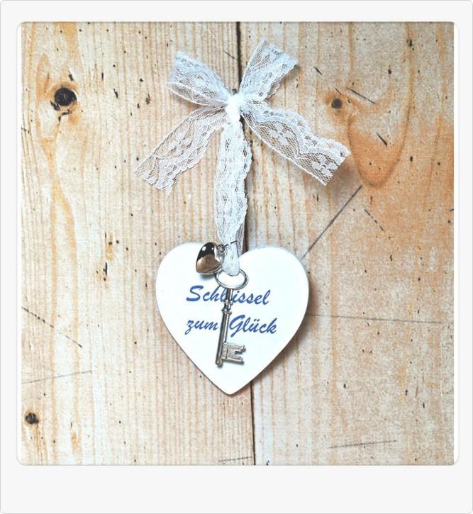 Herz Anhänger Schlüssel zum Glück Schlüsselanhänger